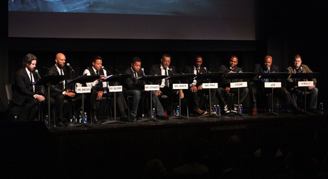 L-R: Reitman, Common, Howard, Gooding, Fishburn, Mackie, Anderson, McBride, Oswald