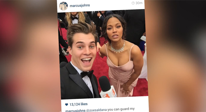 Marcus Johns 2015 Oscar Red Carpet Recap