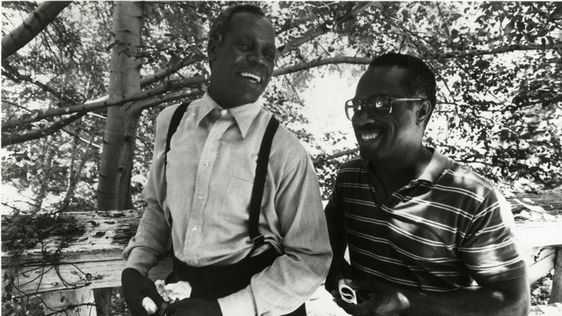 "Danny Glover and Charles Burnett on ""To Sleep with Anger"" Set"